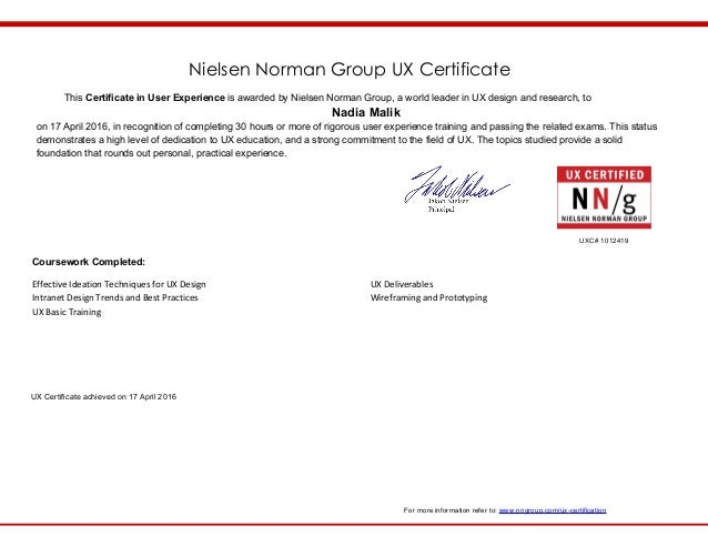 NNG-UX-Certificate-Malik