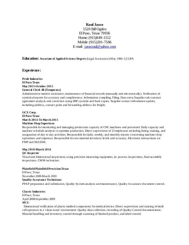 Resume\' 10-09-15 B - Google Docs