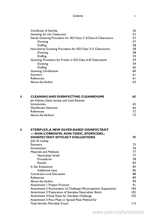 PDA Book-Table of Contents-Environmental Monitoring a Comprehensive H…
