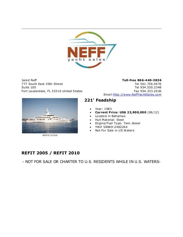 Jared Neff777 South East 20th StreetSuite 100Fort Lauderdale, FL 33316 United StatesToll-free 866-440-3836Tel 561.756.4676...
