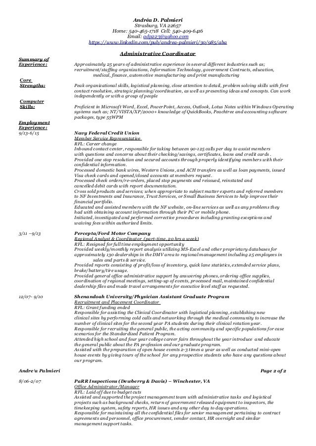 Administrative Functional Resume  PetitComingoutpolyCo