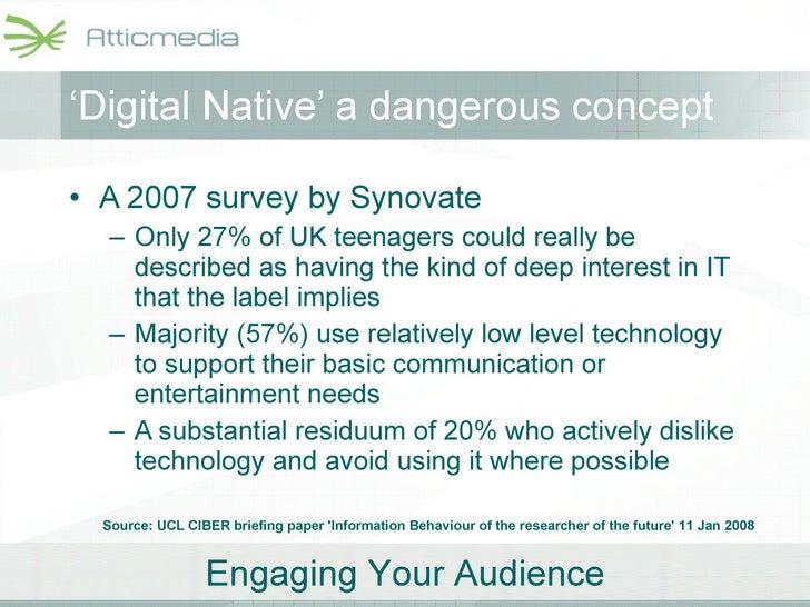 <ul><li>A 2007 survey by Synovate </li></ul><ul><ul><li>Only 27% of UK teenagers could really be described as having the k...