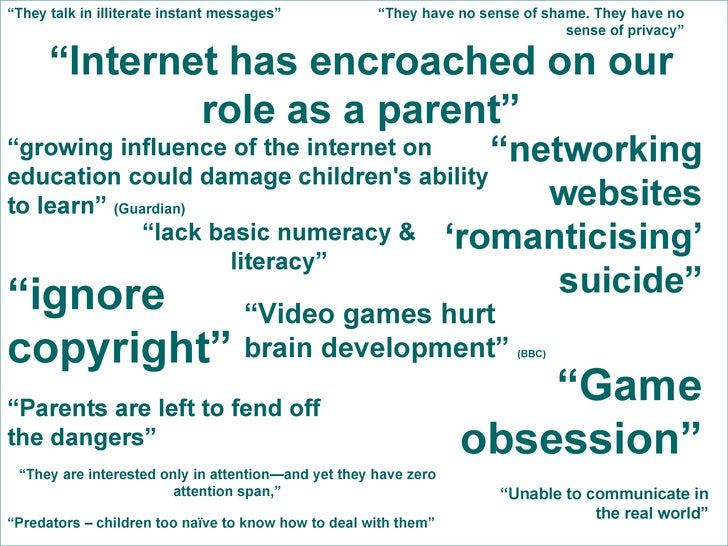 """"""" Internet has encroached on our role as a parent"""" """" Parents are left to fend off the dangers"""" """" networking websites 'roma..."""