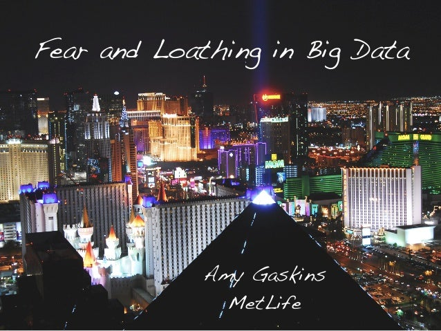 Fear and Loathing in Big Data! Amy Gaskins! MetLife!