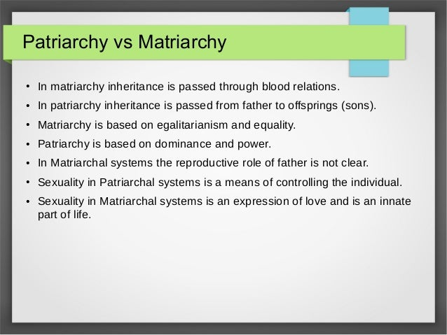 Images of Matriarchal Society Vs Patriarchal Society - #rock-cafe