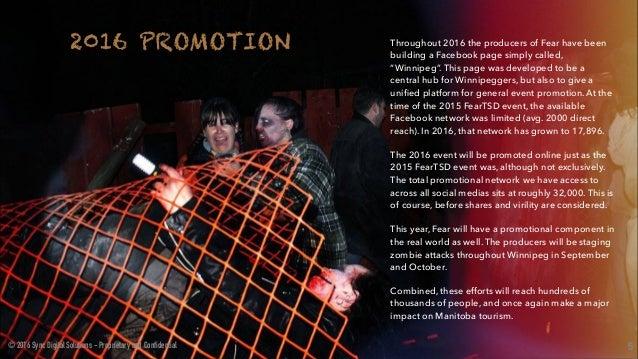Fear (Halloween Event in Winnipeg) Sponsorship Deck