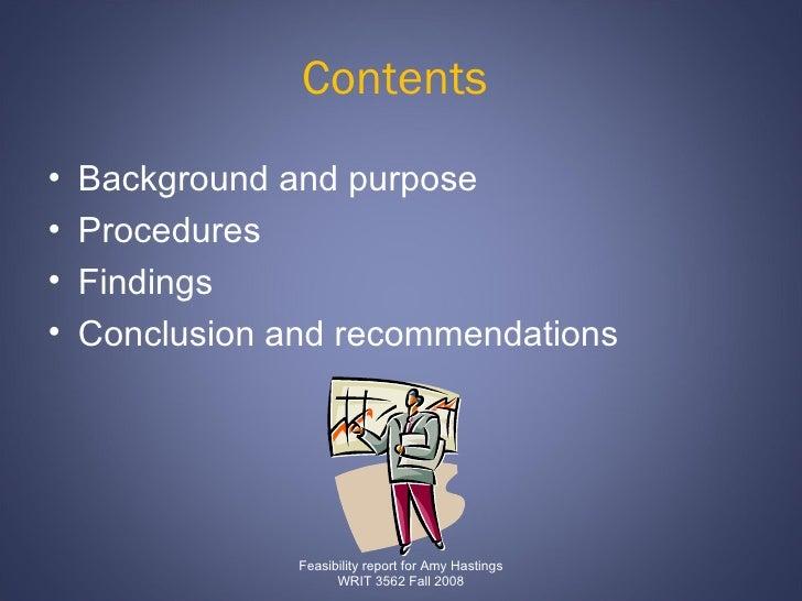 Contents   <ul><li>Background and purpose  </li></ul><ul><li>Procedures  </li></ul><ul><li>Findings  </li></ul><ul><li>Con...