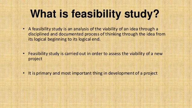 What Is Feasibility ...