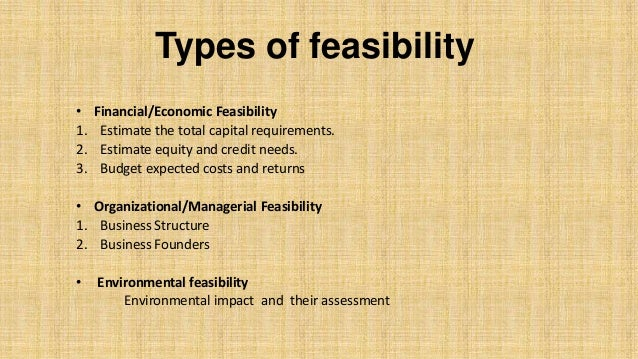 Feasibility Report Basic Concepts With Example