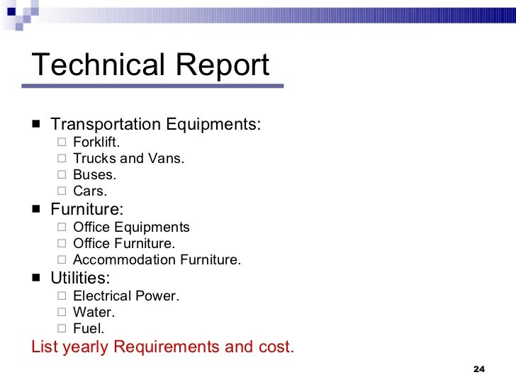 Sample Technical Report  Free Sample Example Format