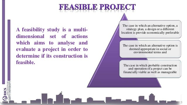 Feasibility study for house construction project