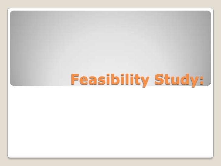 Feasibility Study:<br />