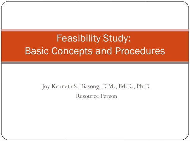 Feasibility study concepts and procedures for Business feasibility study template free download
