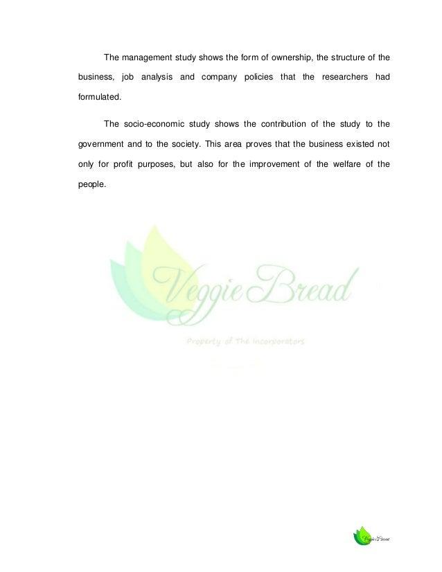 veggie bread feasibility study