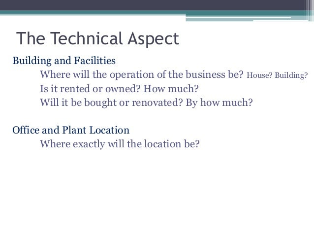 technical aspect sample