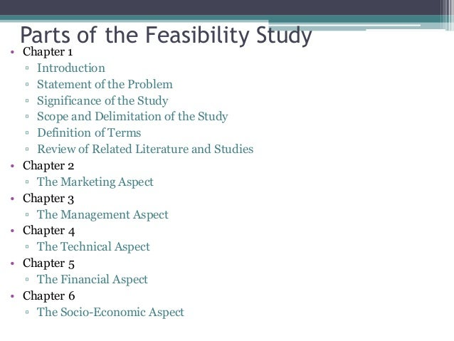 5. Parts Of The Feasibility ...