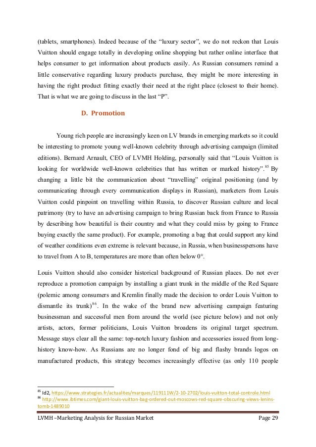 """LVMH–MarketingAnalysisforRussianMarket Page29  (tablets, smartphones). Indeed because of the """"luxury sector"""", we ..."""