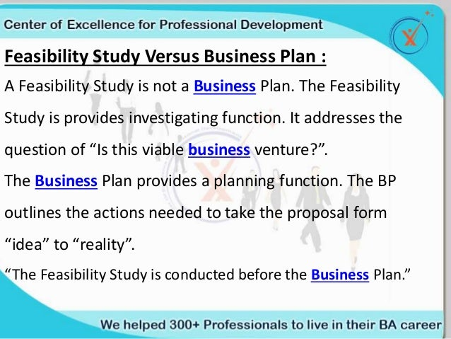 difference between feasibility study and project proposal