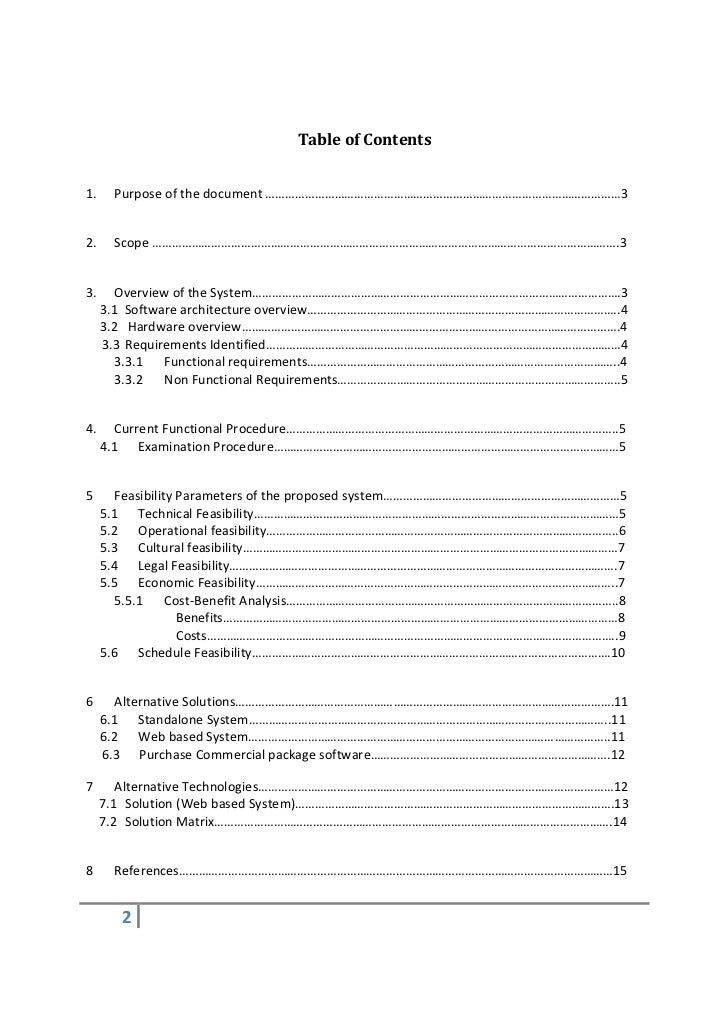 Fantastic Economic Feasibility Analysis Template Contemporary