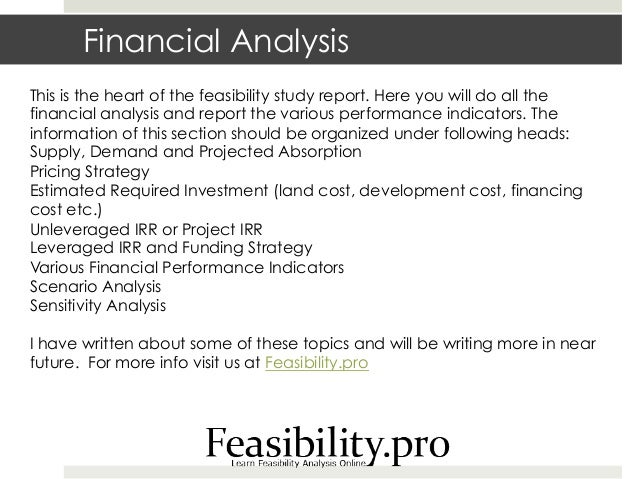 real estate feasibility study template - how to do a feasibility study report