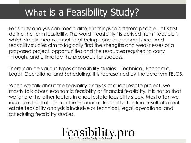 writing a feasibility study report