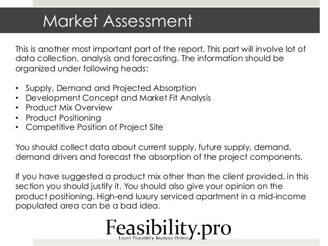 Market and feasibility study