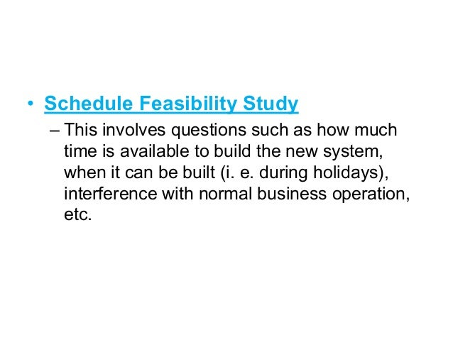 feasibility study and its types pdf