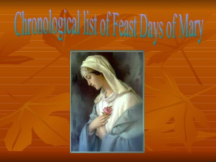 Feast days of mary