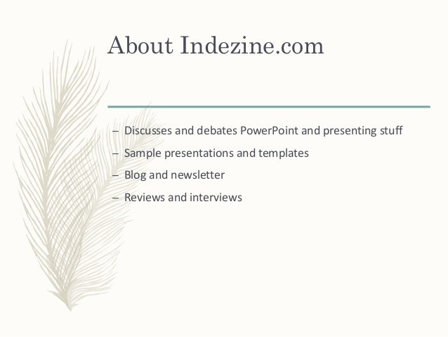 Feathered Theme in PowerPoint Slide 2