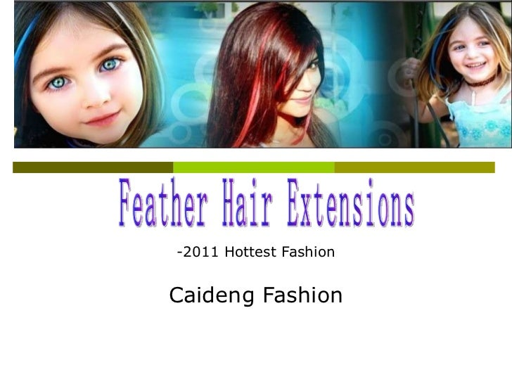 -2011 Hottest Fashion Caideng Fashion Feather Hair Extensions
