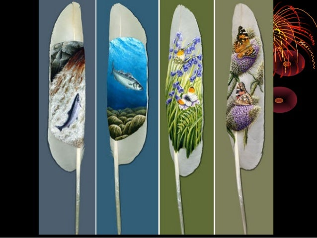 Feather paintings Slide 2