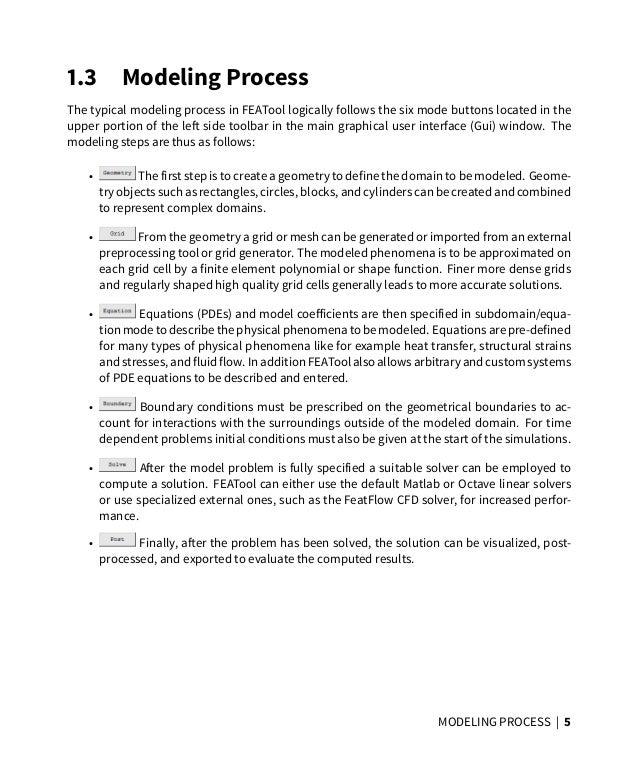 FEATool Multiphysics Matlab FEM and CFD Toolbox - v1 6 Quickstart Gui…