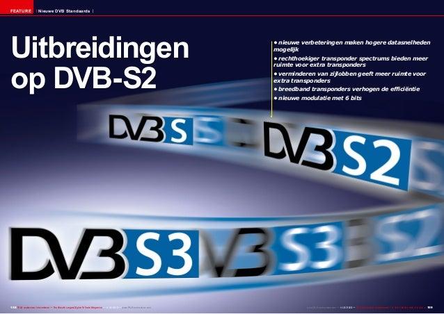 FEATURE  Nieuwe DVB Standaards  Uitbreidingen op DVB-S2  158 TELE-audiovision International — The World's Largest Digital ...