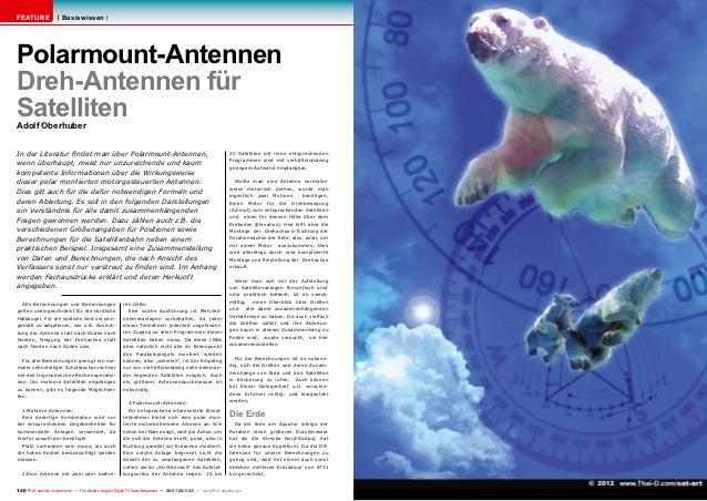 FEATURE                 BasiswissenPolarmount-AntennenDreh-Antennen fürSatellitenAdolf OberhuberIn der Literatur findet ma...