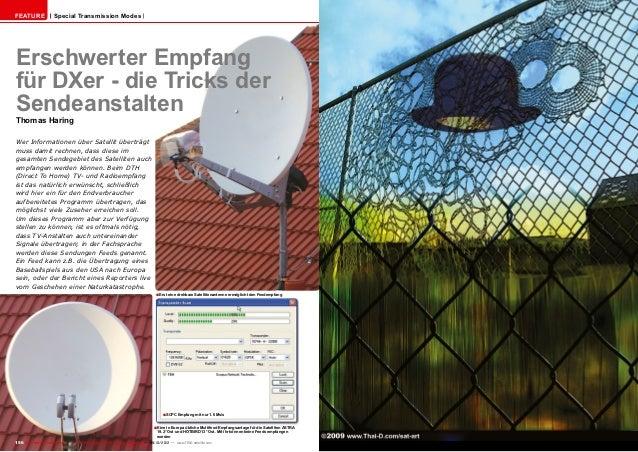 Feature                Special Transmission ModesErschwerter Empfangfür DXer - die Tricks derSendeanstaltenThomas HaringWe...