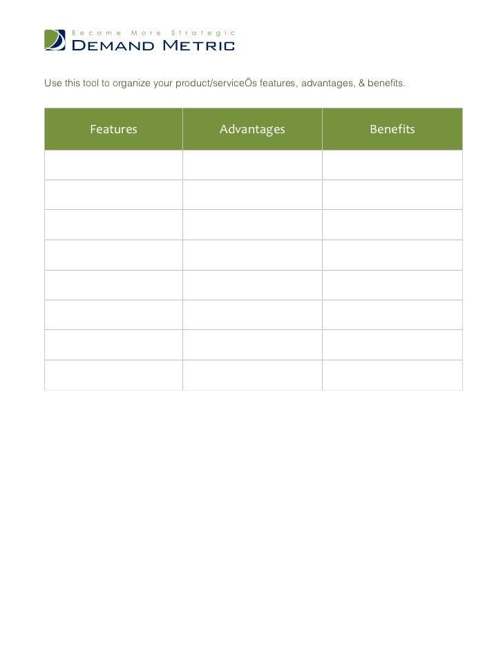 Feature Advantage Benefit Tool