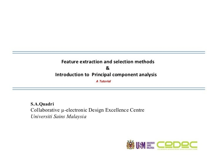 Feature Extraction and Principal Component Analysis
