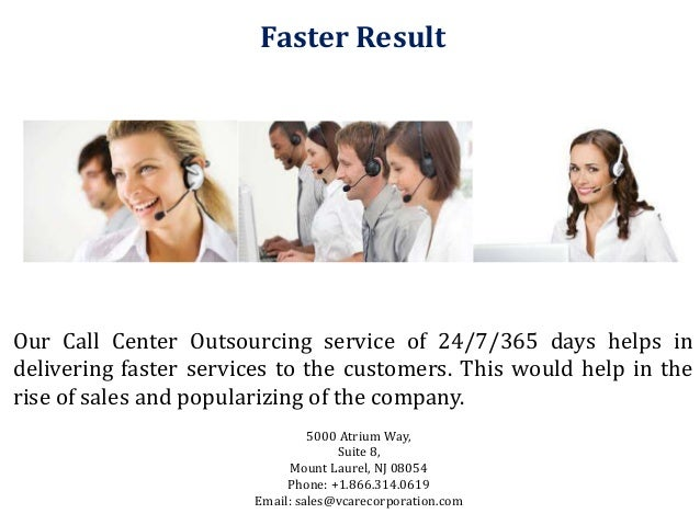 Outsourced Call Center Services : Feature of call center outsourcing services vcarecorporation