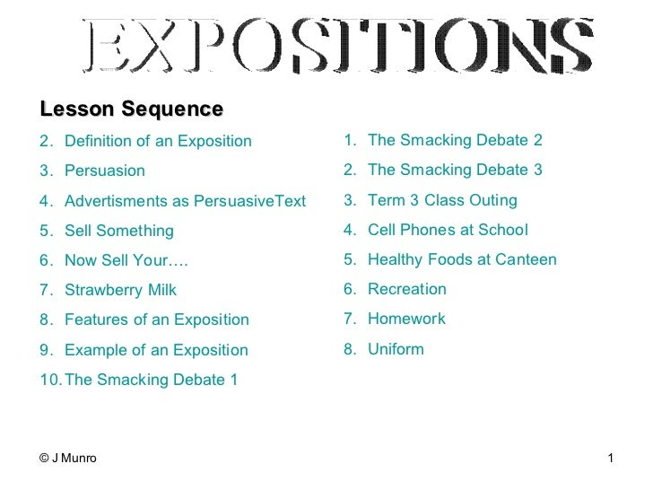 features of persuasive writing expositions lesson sequence - Examples Of Persuasive Writing Essays