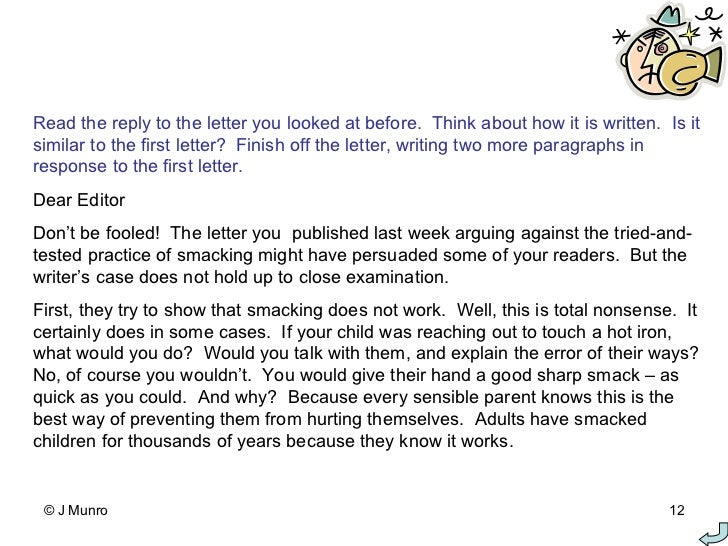 Writing A Formal Letter 5th Grade