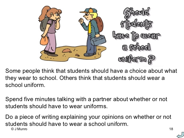 Persuasive essay on uniforms