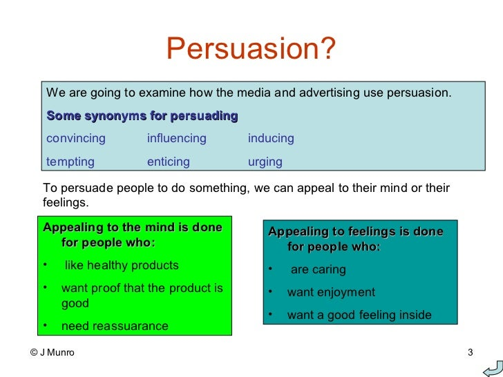 Ways to persuade in writing