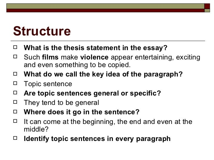 Features of an essay writing