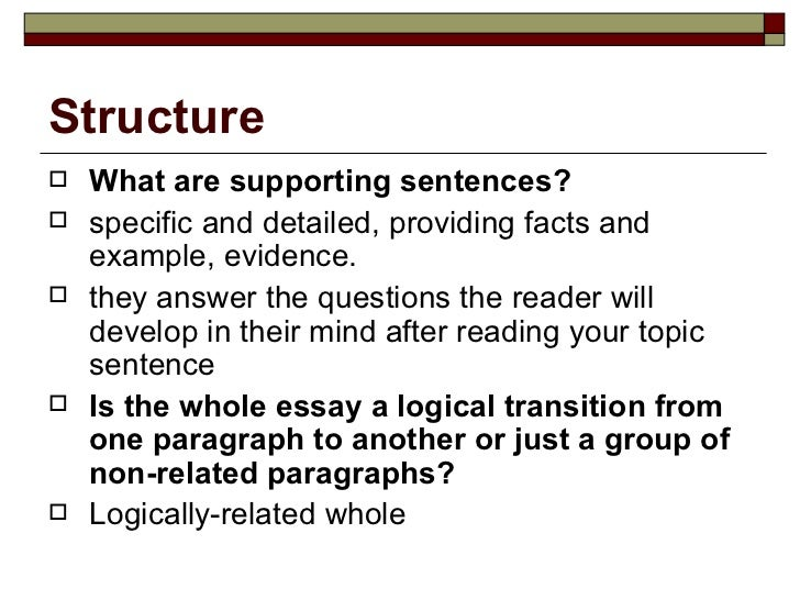 What are the characteristic features of a good essay?