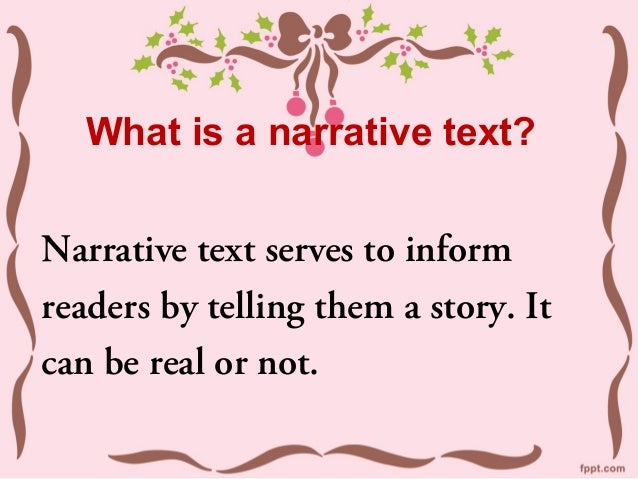 Features of a narrative text Slide 2