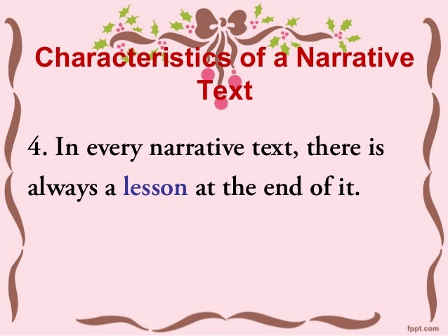Features of a narrative text : features of a narrative text 25 638 from www.slideshare.net size 638 x 479 jpeg 58kB