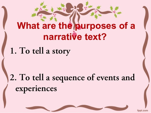 Features of a narrative text Slide 3