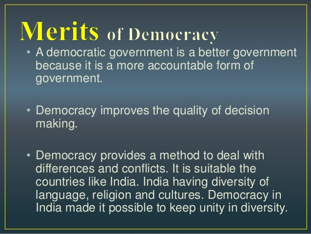essay on salient features of democracy Panchayati raj system in india – essay  and the salient features of his scheme for making  our democracy has reached the stage where the full participation.