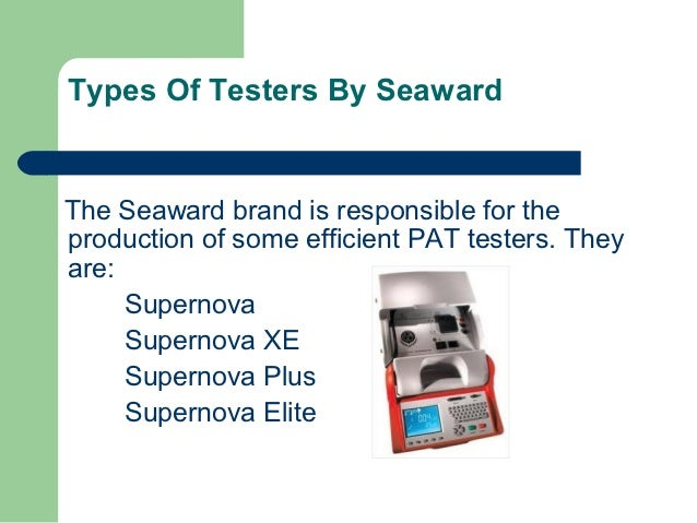 how to use a seaward supernova pat tester
