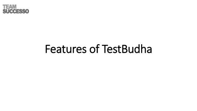 Features of TestBudha